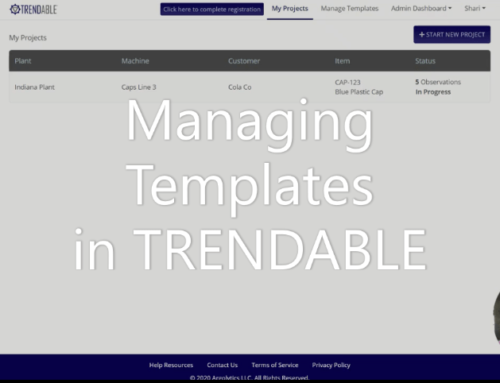 How can I publish a template in TRENDABLE for Data Collection?