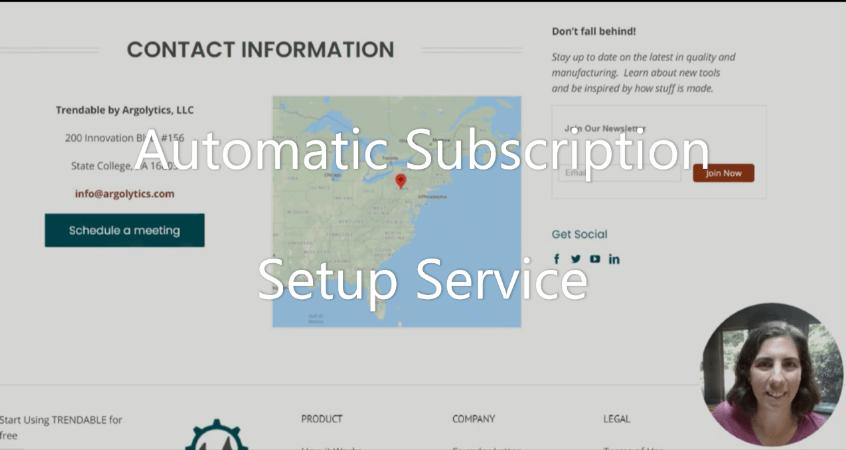 Automatic Subscription Setup Service