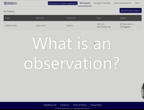 "What is an ""observation"" in TRENDABLE for Data Collection?"