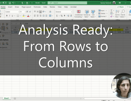 How do I convert rows to columns in Excel?