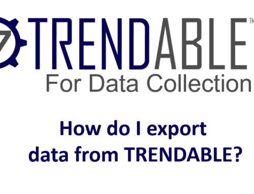 How do I export data from TRENDABLE for Data Collection?