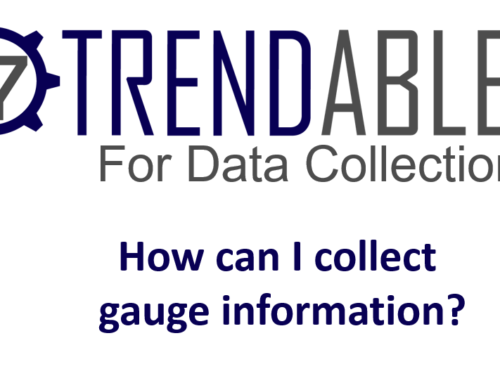 How do I collect Gauge information in TRENDABLE for Data Collection?