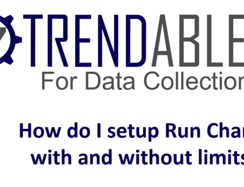 How do I setup Run Charts in TRENDABLE for Data Collection?