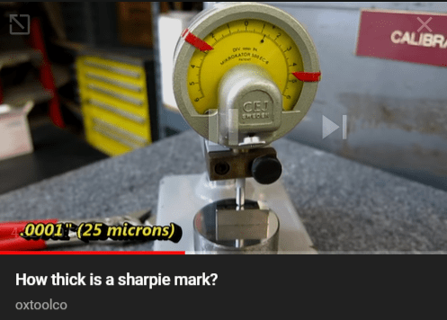 How thick is a sharpie mark?